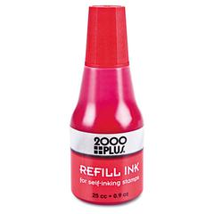Self-Inking Refill Ink, Red, 0.9 oz. Bottle