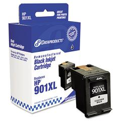 Dataproducts Remanufactured CC654AN (901XL) High-Yield Ink, 700 Page-Yield, Black