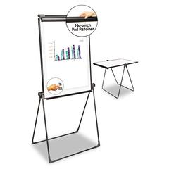 Universal Foldable Double Sided Dry Erase Easel, 28.5 x 37.5, White/Black
