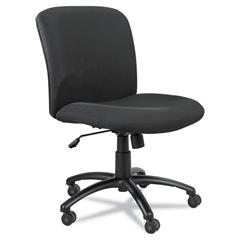 Safco Uber Series Big & Tall Swivel/Tilt Mid Back Chair, Black