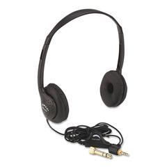 AmpliVox Personal Multimedia Stereo Headphones with Volume Control, Black