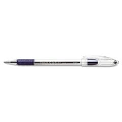 Pentel R.S.V.P. Stick Ballpoint Pen, .7mm, Trans Barrel, Blue Ink, Dozen