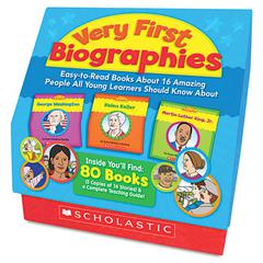 Very First Biographies, Eight pages/16 Books and Teaching Guide, PreK-K