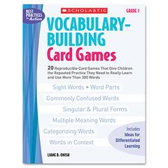 Scholastic Vocabulary Building Card Games, Grade One, 80 pages