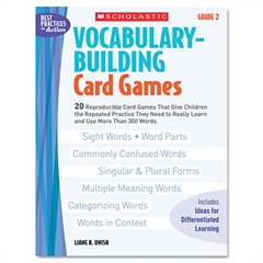 Scholastic Vocabulary Building Card Games, Grade Two, 80 pages