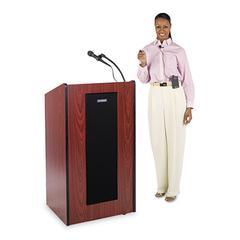 Presidential Plus Wireless Lectern, 25-1/2w x 20-1/2d x 46-1/2h, Mahogany