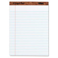 TOPS The Legal Pad Ruled Perforated Pads, 8 1/2 x 11 3/4, White, 50 Sheets