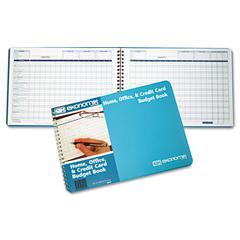 Ekonomik Home/Office Budget Book, 56 Pages, 10 1/4 x 7 1/4, Aqua Leatherette Cover