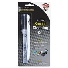 "Portable Screen Cleaning Kit, 5 3/4"" x 5 3/4"" Microfiber Cloth"