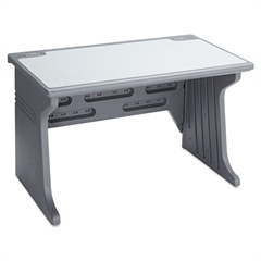 Iceberg Aspira Modular Desk, Resin, 48w x 28d x 30h, Charcoal