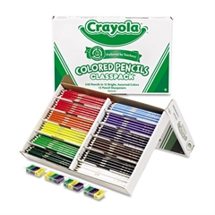 Crayola Colored Woodcase Pencil Classpack, 3.3 mm, 12 Assorted Colors/Box