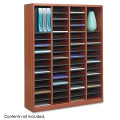 Safco Wood/Fiberboard E-Z Stor Sorter, 60 Slots, 40 x 11 3/4 x 52 1/4, Cherry, 2 Boxes
