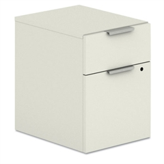 HON Voi Mobile Box/File Pedestal, 15 3/4w x 20 11/16d x 21 7/16h, Silver Mesh