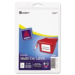 Avery Removable Multi-Use Labels, 2 x 4, White, 100/Pack