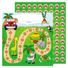 Carson-Dellosa Publishing Jungle Safari Mini Incentive Chart, 5 1/4w x 6h