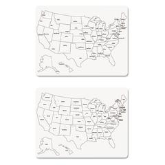 Two-Sided U.S. Map Whiteboard, 24 x 18