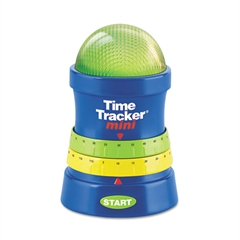 Learning Resources Time Tracker Mini Timer, 3 1/4w x 3 1/4d x 4 3/4h, Blue/Red/Yellow/Green