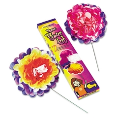"KolorFast Tissue Paper Flower Kit, 10"", 7 per kit, Assorted Colors"