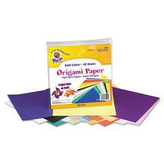 Origami Paper, 30 lbs., 9 x 9, Assorted Bright Colors, 40 Sheets/Pack