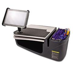 AutoExec GripMaster 03 Auto Desk with iPad Tablet Mount, Supply Organizer, Gray