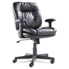 Executive Swivel/Tilt Chair, Fixed T-Bar Arms, Black
