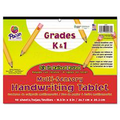 Multi-Sensory Handwriting Tablet, 10-1/2 x 8, 40 Sheets/Pad