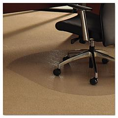 Cleartex Ultimat Polycarbonate Chair Mat for Low/Medium Pile Carpet, 49 x 39