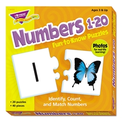 TREND Fun to Know Puzzles, Numbers 1-20