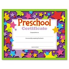 TREND Colorful Classic Certificates, Preschool Certificate, 8 1/2 x 11, 30 per Pack