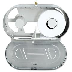 Toilet Tissue 2 Roll Dispenser, Stainless Steel,Jumbo,20 13/16 x 5 5/16 x 11 3/8