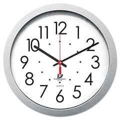"Chicago Lighthouse Quartz Flat Rim Clock, 14-1/2"", Silver"
