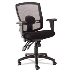 Alera Alera Etros Series Petite Mid-Back Multifunction Mesh Chair, Black