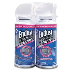Endust Compressed Gas Duster, 2 3.5oz Cans/Pack