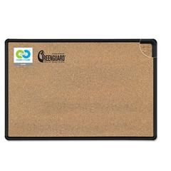 Best-Rite Black Splash-Cork Board, 48 x 36, Natural Cork, Black Frame