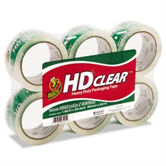 """Heavy-Duty Carton Packaging Tape, 1.88"""" x 55yds, Clear, 6 Rolls"""