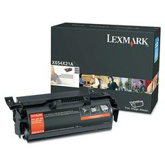 Lexmark X654X21A Extra High-Yield Toner, 36,000 Page-Yield, Black