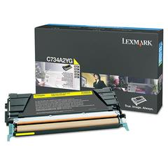 Lexmark C734A2YG Toner, 6000 Page-Yield, Yellow