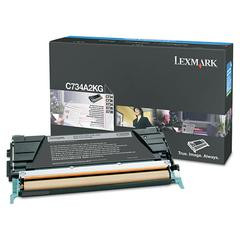 Lexmark C734A2KG High-Yield Toner, 8000 Page-Yield, Black