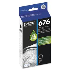 Epson T676XL120 (676) DURABrite Ultra High-Yield Ink, Black