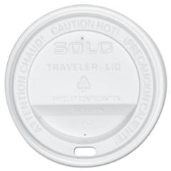 SOLO Cup Company Traveler Drink-Thru Lid, White, 300/Carton