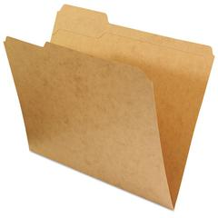 Kraft File Folders, 1/3 Cut Assorted, Top Tab, Letter, Kraft, 100/Box