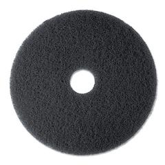 "Low-Speed Stripper Floor Pad 7200, 13"" Diameter, Black, 5/Carton"