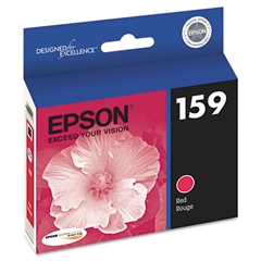 Epson T159720 (159) UltraChrome Hi-Gloss 2 Ink, Red