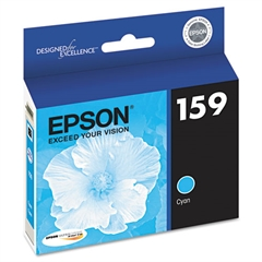 Epson T159220 (159) UltraChrome Hi-Gloss 2 Ink, Cyan