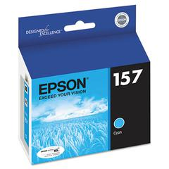 Epson T157220 (157) UltraChrome K3 Ink, Cyan