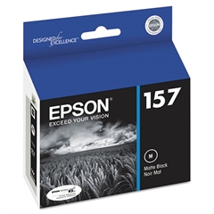 Epson T157820 (157) UltraChrome K3 Ink, Matte Black