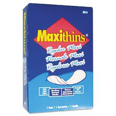 Maxithins Vended Sanitary Napkins, 100/Carton