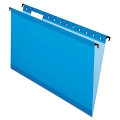 Pendaflex SureHook Poly Laminate Hanging Folders, Legal, 1/5 Tab, Blue, 20/Box