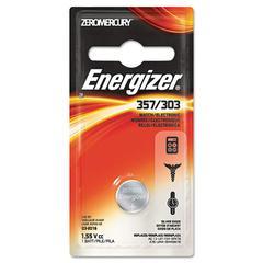 Energizer Watch/Electronic Battery, SilvOx, 357, 1.5V, MercFree