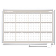 MasterVision 12 Month Planner, 48x36, Aluminum Frame